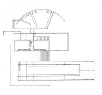 Koshino House - Půdorys přízemí - foto: Tadao Ando Architects & Associates