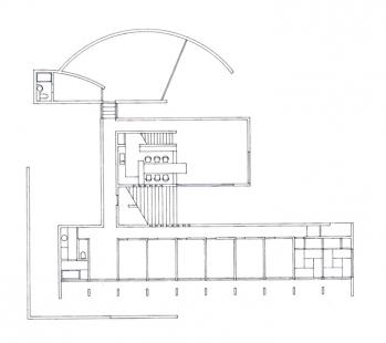 Koshino House - Půdorys suterénu - foto: Tadao Ando Architects & Associates