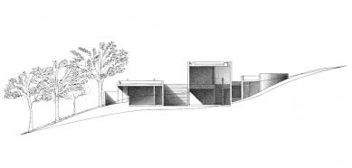 Koshino House - Řez - foto: Tadao Ando Architects & Associates