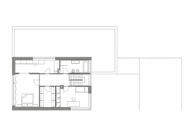 Interiér rodinného domu ve Vonoklasech - Půdorys 2NP