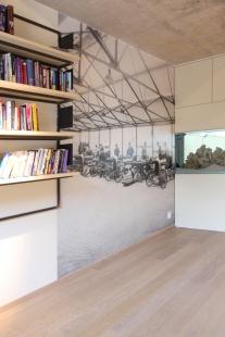 Interiér rodinného domu ve Vonoklasech - Pracovna  - tapeta - foto: studio Upsala, Dalibor Borovec