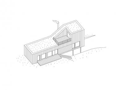 House in Levín - Axonometrie - foto: Raketoplán | Mjölk architekti