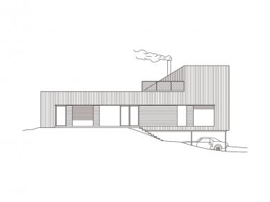House in Levín - Boční pohled - foto: Raketoplán | Mjölk architekti