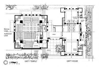 Unitářský kostel - Půdorys přízemí
