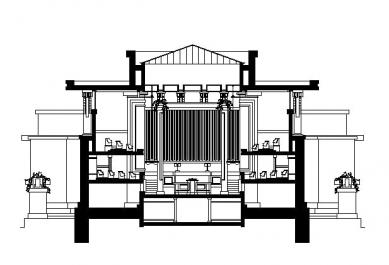 Unitářský kostel - Příčný řez
