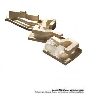 AachenMünchener Headquarters - Soutěžní model - foto: Kadawittfeldarchitektur