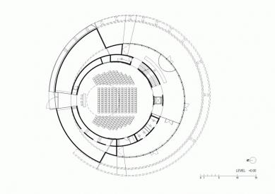 Evropské kulturní centrum pro vesmírné technologie - Půdorys přízemí