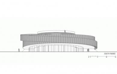 Evropské kulturní centrum pro vesmírné technologie - Jižní pohled