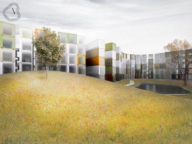 Koleje v kontejnerech - Vnitřní zahrada