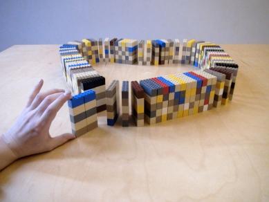 Koleje v kontejnerech - Lego - model
