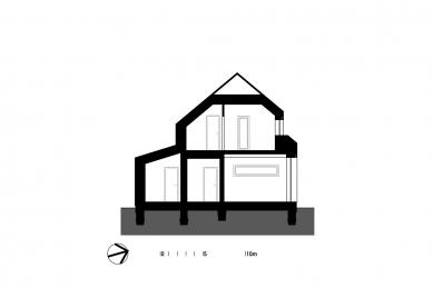 Rodinný dům v CHKO - Příčný řez - foto: VLADIMÍR BALDA architekt