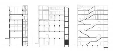 Tacktoren - Řezy - foto: Stéphane Beel Architects