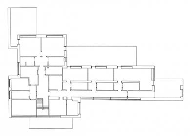 Domy Lange a Esters - Dům Lange - půdorys patra