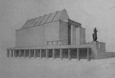 Památník osvobození a Žižkův pomník na Žižkově - soutěžní projekt - Památní síň