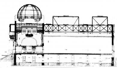 Výstavní pavilon Secession - Podélný řez - foto: archiv redakce