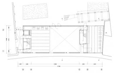 Umělecká škola Sint-Lucas - Půdorys přízemí - foto: Xaveer de Geyter Architects