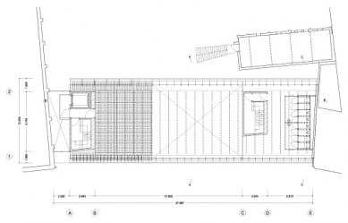 Umělecká škola Sint-Lucas - Půdorys 1.patra - foto: Xaveer de Geyter Architects