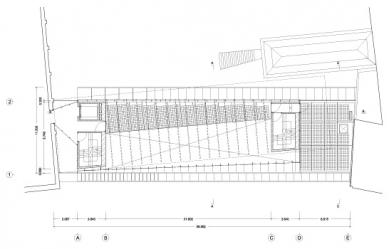 Umělecká škola Sint-Lucas - Půdorys 2.patra - foto: Xaveer de Geyter Architects