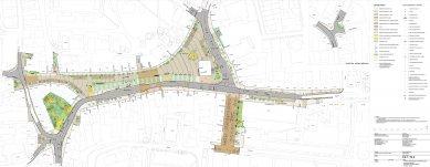 Mírové náměstí v Dobříši - západní etapa -  Situace celku – projekt pro SP - foto: FAM Architekti