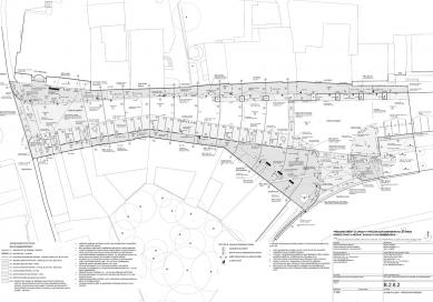 Mírové náměstí v Dobříši - západní etapa - Situace kladení dlažeb - foto: FAM Architekti