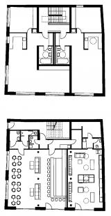 Polyfunkční dům v Benešově - Půdorysy 2NP a 1NP