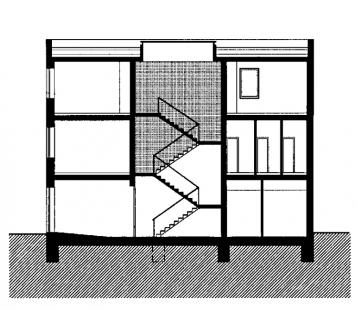 Polyfunkční dům v Benešově - Řez