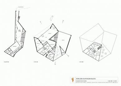 Městská knihovna Seinäjoki - Půdorysy - foto: JKMM Architects