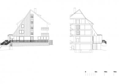 Hotel Duo - Side elevation and section - foto: QARTA ARCHITEKTURA s.r.o.