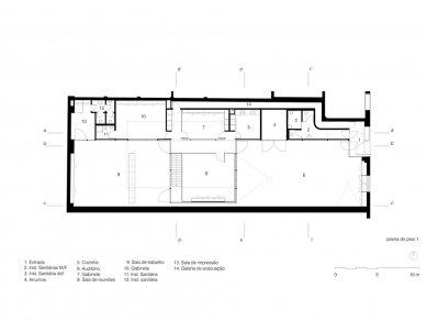 Architect's Office in Matosinhos - Půdorys přízemí - foto: Nuño Sampaio Arquitectos
