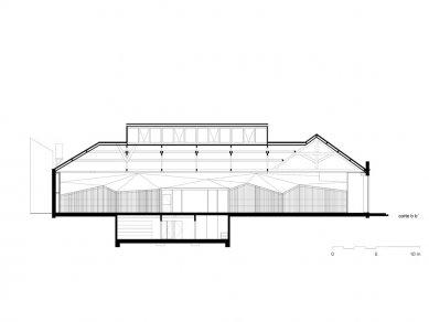 Architect's Office in Matosinhos - Podélný řez - foto: Nuño Sampaio Arquitectos