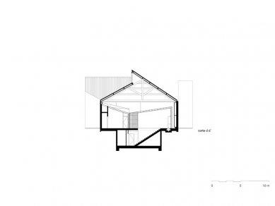 Architect's Office in Matosinhos - Příčný řez - foto: Nuño Sampaio Arquitectos