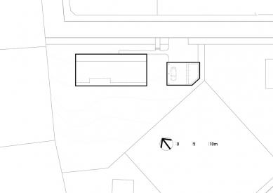 Přízemní dům se slunolamem - Situace - foto: VLADIMÍR BALDA architekt