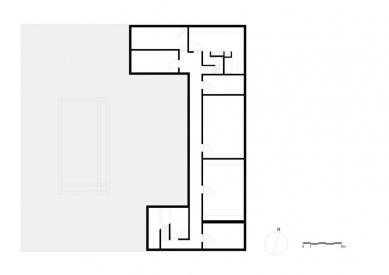 Vila V v T - Půdorys suterénu - foto: Beel & Achtergael Architects