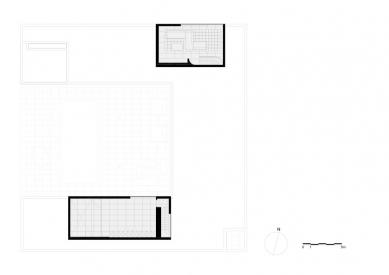 Vila V v T - Půdorys patra - foto: Beel & Achtergael Architects