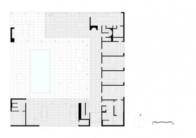 Vila V v T - Půdorys přízemí - foto: Beel & Achtergael Architects