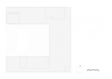Vila V v T - Výkres střechy - foto: Beel & Achtergael Architects