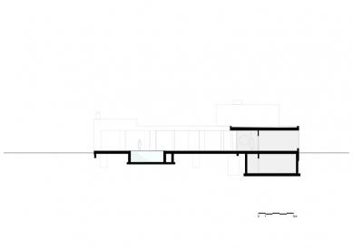 Vila V v T - Řez - foto: Beel & Achtergael Architects