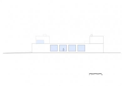 Vila V v T - Východní pohled - foto: Beel & Achtergael Architects