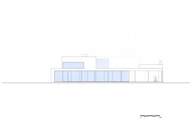 Vila V v T - Severní pohled - foto: Beel & Achtergael Architects