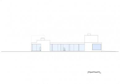 Vila V v T - Západní pohled - foto: Beel & Achtergael Architects