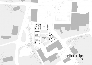 Lipa Resort - Aparthotel Lípa - Situace - komplexu
