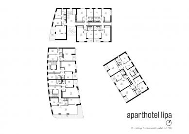 Lipa Resort - Aparthotel Lípa - Půdorys 2. - 4. NP