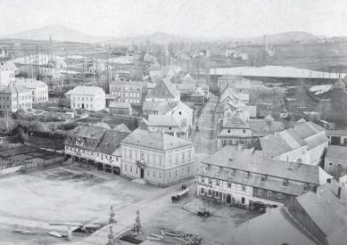 Lipa Resort - Aparthotel Lípa - Historický snímek náměstí s původní, později odstraněnou zástavbou