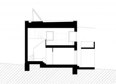 Rodinný dům v Mnichovicích - Řez