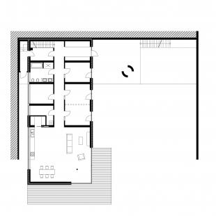 Rodinný dům v Novém Jičíně - Půdorys 1NP - foto: Kamil Mrva Architects