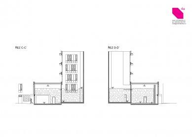 Longin Business Center - Sections CC, DD - foto: 4A architekti