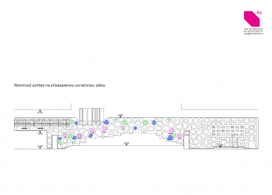 Longin Business Center - Unrolled corian wall - foto: 4A architekti