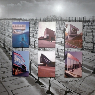 Instalace výstavy Víno a architektura - foto: AI photography, Aulík Fišer architekti