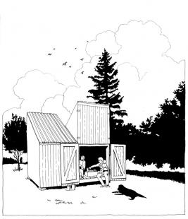 Dom ako hračka - Kresba - foto: Anna & Eugeni Bach