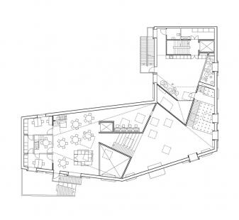 Ama'r Children's Culture House - Půdorys prvního patra - foto: Dorte Mandrup Arkitekter